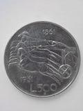 Ιταλικό ασημένιο νόμισμα λιρετών Στοκ Εικόνες