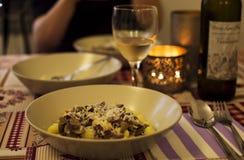 Ιταλικό γεύμα Στοκ Φωτογραφίες