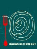 Ιταλικό εστιατόριο σχεδίου επιλογών Στοκ Εικόνες