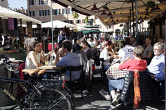 ιταλικό εστιατόριο Στοκ Φωτογραφία