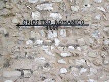 Ιταλικό μεσαιωνικό σημάδι Στοκ Φωτογραφία