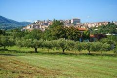 Ιταλικό πανόραμα της του χωριού Ιταλίας Velletri στοκ εικόνα με δικαίωμα ελεύθερης χρήσης