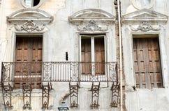 Ιταλικό παράθυρο στο Παλέρμο, Σικελία, Παλέρμο Στοκ Φωτογραφία