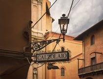 Ιταλικό σημάδι υποδηματοποιών Στοκ φωτογραφία με δικαίωμα ελεύθερης χρήσης
