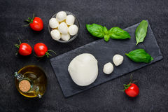 Ιταλικό τυρί μοτσαρελών Στοκ Εικόνες