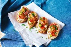 Ιταλικό bruschetta τροφίμων antipasti Στοκ Εικόνες