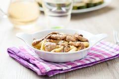 Ιταλικό gnocchi με τα μανιτάρια Στοκ φωτογραφία με δικαίωμα ελεύθερης χρήσης