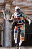 Ιταλικό Harlequin στη Βενετία καρναβάλι στοκ εικόνα