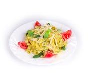 ιταλικό pesto ζυμαρικών Στοκ εικόνες με δικαίωμα ελεύθερης χρήσης