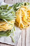 Ιταλικό tagliatelli ζυμαρικών Στοκ Εικόνες