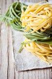 Ιταλικό tagliatelli ζυμαρικών Στοκ εικόνα με δικαίωμα ελεύθερης χρήσης