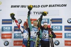 ΙΧ τελική φάση του Παγκόσμιου Κυπέλλου IBU BMW 24 Biathlon 03 2018 Στοκ Εικόνες