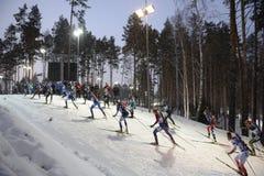 ΙΧ τελική φάση του Παγκόσμιου Κυπέλλου IBU BMW 24 Biathlon 03 2018 Στοκ Φωτογραφίες