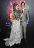 Ιωάννα Newsom & Andy Samberg Στοκ Φωτογραφία
