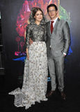 Ιωάννα Newsom & Andy Samberg Στοκ Εικόνες