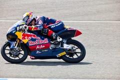 Ιωνάς Folger πειραματικό motorcycling 125cc στο παγκόσμιο champio Στοκ Φωτογραφίες