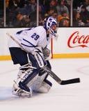 Ιωνάς Gustavsson, goalie Τορόντο Maple Leafs Στοκ εικόνες με δικαίωμα ελεύθερης χρήσης