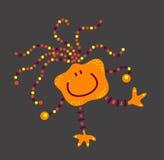 Ιός βακτηριδίων ουσίας πλασμάτων τεράτων αστείος στα άλματα ποδιών Στοκ φωτογραφία με δικαίωμα ελεύθερης χρήσης