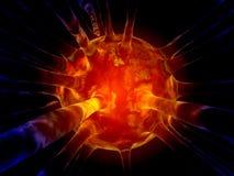 Ιός γρίπης Στοκ φωτογραφία με δικαίωμα ελεύθερης χρήσης