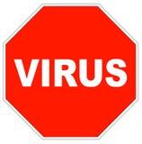 ιός στάσεων σημαδιών Στοκ φωτογραφίες με δικαίωμα ελεύθερης χρήσης