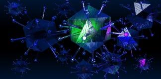 ιός χοίρων γρίπης Στοκ Εικόνες