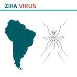 Ιός Zika Aedes κουνουπιών Στοκ Εικόνες