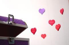 Ιώδες κιβώτιο της καρδιάς Στοκ Εικόνες