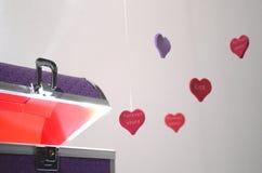 Ιώδες κιβώτιο της καρδιάς Στοκ φωτογραφία με δικαίωμα ελεύθερης χρήσης
