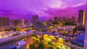 Ιώδες λυκόφως Waikiki στοκ εικόνες