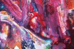 Ιώδες πορτοκαλί χρώμα watercolor, μαλακά χρώματα μιγμάτων, υπόβαθρο σημείων ζωγραφικής, ζωηρόχρωμο αφηρημένο υπόβαθρο watercolor Στοκ Φωτογραφία
