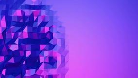 Ιώδης χαμηλή πολυ επιφάνεια κυματισμού ως απλό υπόβαθρο Ιώδες γεωμετρικό δομένος περιβάλλον ή κυμαιμένος υπόβαθρο ελεύθερη απεικόνιση δικαιώματος