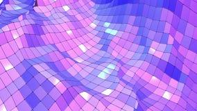 Ιώδης χαμηλή πολυ επιφάνεια κυματισμού ως μεγάλο υπόβαθρο Ιώδες γεωμετρικό δομένος περιβάλλον ή κυμαιμένος υπόβαθρο διανυσματική απεικόνιση