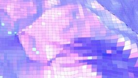 Ιώδης χαμηλή πολυ επιφάνεια κυματισμού ως φουτουριστικό υπόβαθρο Ιώδες γεωμετρικό δομένος περιβάλλον ή κυμαιμένος υπόβαθρο διανυσματική απεικόνιση