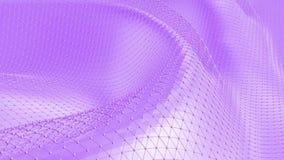 Ιώδης χαμηλή πολυ επιφάνεια κυματισμού ως cyber υπόβαθρο Ιώδες γεωμετρικό δομένος περιβάλλον ή κυμαιμένος υπόβαθρο διανυσματική απεικόνιση