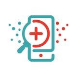 Ιών στη διανυσματική απεικόνιση smartphone Στοκ Φωτογραφία
