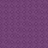 Ιώδες άνευ ραφής ατομικό διανυσματικό σχέδιο λουλουδιών με τα μικρά αστέρια Στοκ φωτογραφίες με δικαίωμα ελεύθερης χρήσης