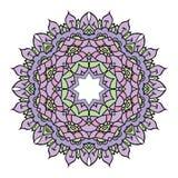 Ιώδες διανυσματικό mandala Στοκ Εικόνες