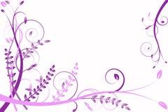 ιώδες πρότυπο λουλουδ& Στοκ εικόνα με δικαίωμα ελεύθερης χρήσης