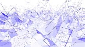 Ιώδης ή πορφυρή χαμηλή πολυ επιφάνεια κυματισμού ως διαστημικό σκηνικό Ιώδες γεωμετρικό δομένος περιβάλλον ή να κυμαθεί διανυσματική απεικόνιση