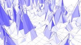 Ιώδης ή πορφυρή χαμηλή πολυ επιφάνεια κυματισμού ως fractal περιβάλλον Ιώδες γεωμετρικό δομένος περιβάλλον ή να κυμαθεί διανυσματική απεικόνιση