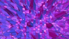 Ιώδης αφηρημένη χαμηλή πολυ επιφάνεια κυματισμού ως διαστημικό υπόβαθρο Ιώδες αφηρημένο γεωμετρικό δομένος περιβάλλον ή ελεύθερη απεικόνιση δικαιώματος