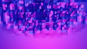 Ιώδης χαμηλή πολυ επιφάνεια κυματισμού ως paysage στο τηλεοπτικό παιχνίδι Ιώδες γεωμετρικό δομένος περιβάλλον ή κυμαιμένος υπόβαθ ελεύθερη απεικόνιση δικαιώματος