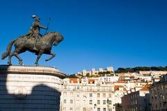 ι άγαλμα της Λισσαβώνας Πορτογαλία βασιλιάδων joao Στοκ Εικόνες