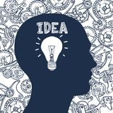 Ιδέα ατόμων Lightbulb Στοκ Εικόνα