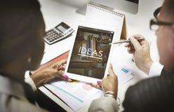 Ιδέες που σκέφτονται τη δημιουργική έννοια σκέψεων αποστολής Στοκ εικόνα με δικαίωμα ελεύθερης χρήσης