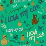 Ι-αγάπη-μου-γάτα Στοκ Εικόνα