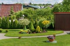 Ιδανικός ευρωπαϊκός κήπος στοκ φωτογραφίες