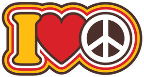 Ι ειρήνη καρδιών Στοκ εικόνα με δικαίωμα ελεύθερης χρήσης