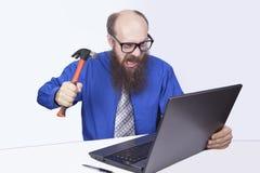Ι επιχειρηματίας και σφυρί - (σειρά) Στοκ φωτογραφία με δικαίωμα ελεύθερης χρήσης