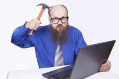 Ι επιχειρηματίας και σφυρί - (σειρά) Στοκ φωτογραφίες με δικαίωμα ελεύθερης χρήσης